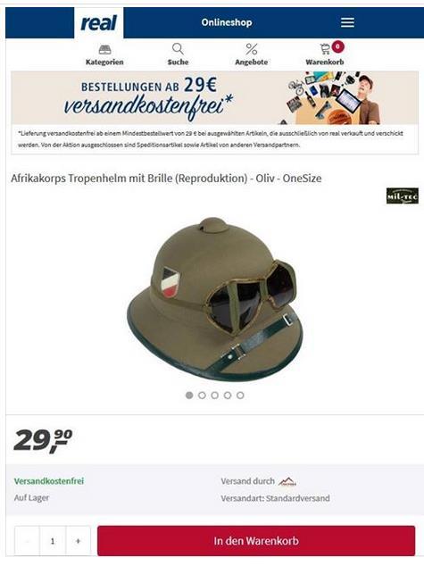 Foto REAL-Angebot: Wehrmachtshelm